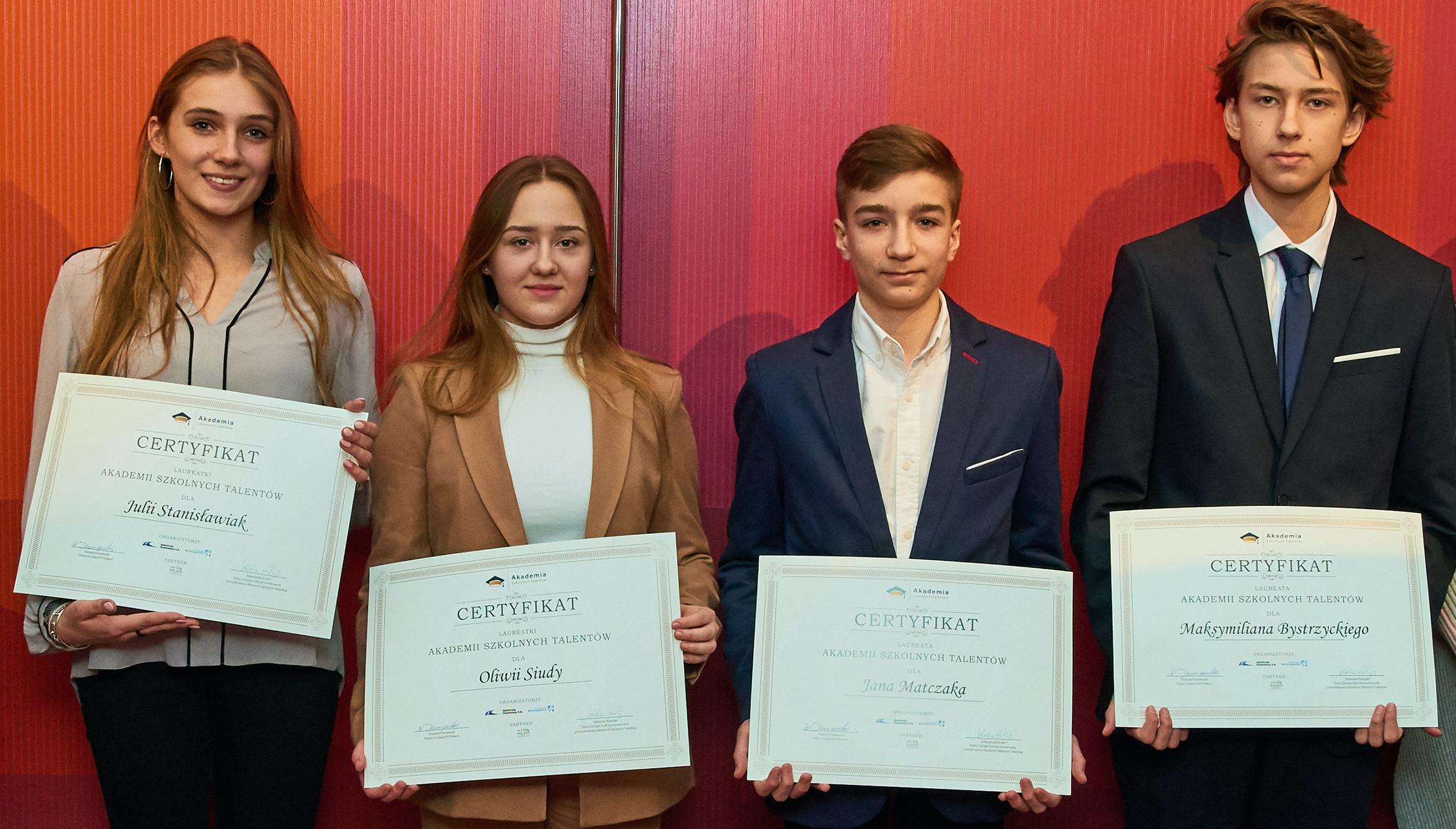 Przedstawiamy laureatów drugiej edycji Akademii Szkolnych Talentów